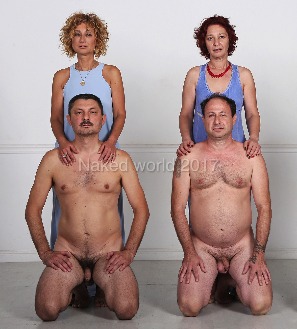 Blue naked women Three Women In Blue Naked World